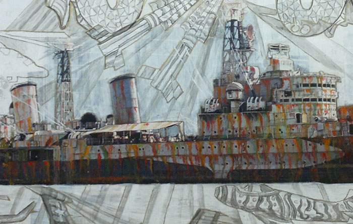 detail of HMS Belfast