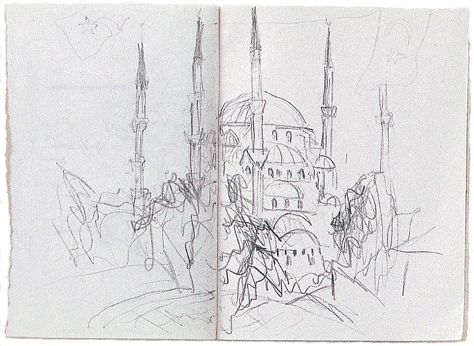 sketch of Blue Mosque, Istanbul